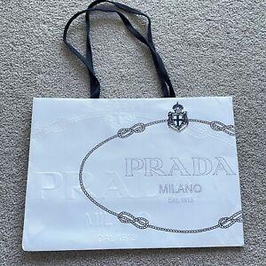 Authentic New Prada Shopping Bag Paper Bag Gift Bag Luxury Packaging