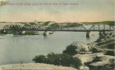 Colorado River hand colored Southern Pacific Bridge Rieder Yuma Arizona 6726