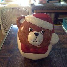 Christmas bear ceramic cookie jar