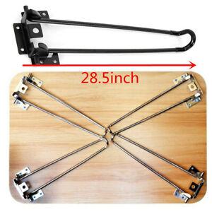 28'' 4 Pcs Iron Folding Hairpin Legs Table Legs Foldable Furniture Desk Legs