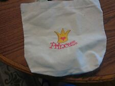 New ! Girls canvas bag (9X10) princess with crown on front. GREAT GIFT!!