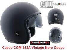 Casco JET/Bandit Visiera Scomparsa CGM 133A Vintage Nero Opaco Taglia M 57/58 cm