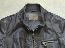 Orsay Leather Leder Jacke Jacket Jakna Blouson Giubbotto Chaqueta Veste  42