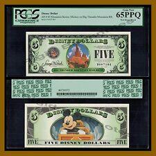 "Disney 5 Dollars, 2014 ""D"" Series Mickey on Big Thunder Mountain PCGS 65 PPQ"