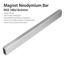 KF_ FT- 2Pcs 100x10x5mm N50 Rectangle Strong Block Neodymium Rare Earth Magnet