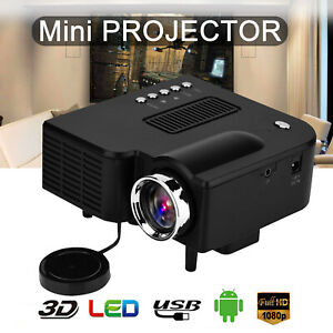 UC28c HD 1080P Mini LED Projector Home Theater Cinema Portable Video Multimedia