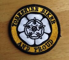 Yorkshire Biker Embroidered Patch Motorcycle Biker   59 Rocker