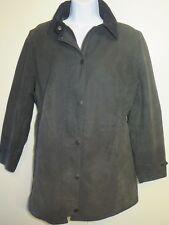 Ladies Barbour L68 Newmarket Waxed Cotton Coat Jacket UK10 Euro 36 - Black