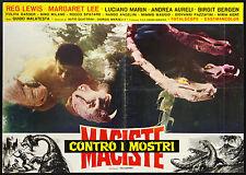 CINEMA-fotobusta MACISTE CONTRO I MOSTRI m. lee, aureli