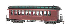 Bachmann On30 Burgundy & Black, Unlettered - Coach/Obser. w/ Lighted inter 26201