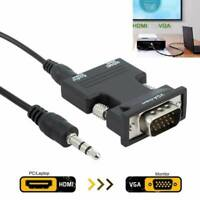 HDMI INPUT to VGA OUTPUT Converter Adapter Sound Audio for PC DVD TV Monitor