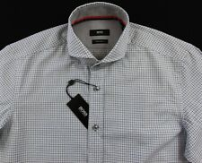 Men's HUGO BOSS White Blue Black SEAN Shirt XL XLarge NWT NEW $145+ Regular Fit