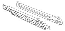 1 PAIR IKEA CABINET RAILS FOR STUVA GRUNDLING WIRE BASKET L + R PART # 120113