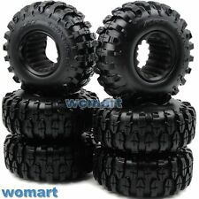 6pcs RC 1.9 Crawler Off Road Tires 108mm For 1:10 RC 4WD Axial 1.9 Beadlock Rims