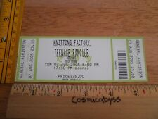 Teenage Fanclub 2005 The knitting Factory ORIGINAL concert ticket