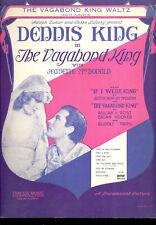 "VAGABOND KING Sheet Music ""Vagabond King Waltz"" Jeanette MacDonald Dennis King"