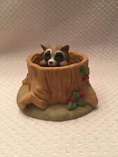 Woodland Surprises  RACCOON  Jacqueline Smith Franklin Mint Porcelain Figurine