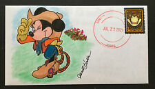 2021 Western Wear Forever Stamp Cachet. Minnie Mouse Cowgirl Outfit Ooak Fdc348