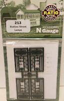 Ratio 213 Station Gas Lamps. (Plastic Kit) N Gauge Railway Model