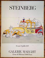 Saul Steinberg Lithographie originale signée numérotée sur velin d'Arches art