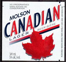 THEME DIVERS étiquette de BIERE MOLSON - CANADA - NEUF PORT OFFERT BEER BIER