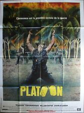 PLATOON Affiche Cinéma ORIGINALE / Movie Poster OLIVER STONE Charlie Sheen