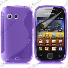 FUNDA CARCASA S TPU GEL DE SILICONA PÚRPURA Samsung Galaxy Y NEO GT-S5360 S5369i
