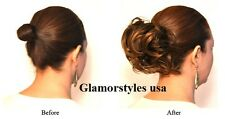 Brown Scrunchie Elastic Hairpiece Scrunchy Hair Piece Extension Ponytail GL