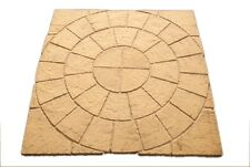 Circle & Square Rotunda Paving Garden Patio Pack Slabs - Stone - Special Offer!