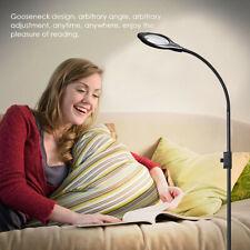 New Led Magnifying Glass Floor Lamp Geight Adjustable Gooseneck Standing Light A