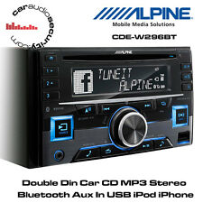 Alpine CDE-W296BT - Double Din CD MP3 USB Stereo Bluetooth iPhone/iPod Ready