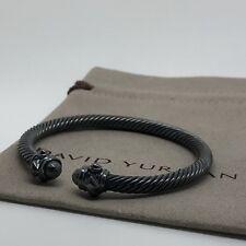 David Yurman Cable Classic Renaissance Bracelet w Darkened Sterling Silver M 5mm