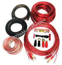 4 Gauge 2500 Watt Amplifier Installation Wiring Kit Car Amp Install Wires Cables