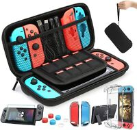 Accessories Bundle for Nintendo Switch Case Clear Shell Screen Guard Grips Strap