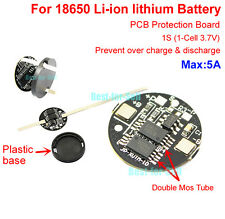 1S 5A 3.7V 4.2V 18650 Li-ion lithium Batterie Charger Cell BMS Protection Board