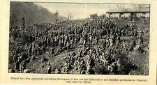 Zehntausende italienische Gefangenen bei der Rückeroberung im Isozotal von 1918