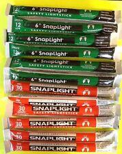 Lot 12 Cyalume Light Sticks 6-12 Hour Green 6-30 Minute Red BUG OUT BAGS Prepper
