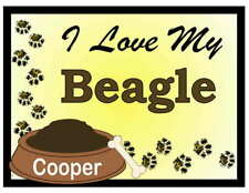 Beagle Personalized I Love My Beagle Magnet
