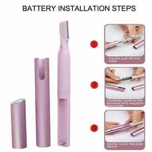Electric Eyebrow Body Hair Removal Trimmer, Lady Easy Shaver Gift Need 1 Battery