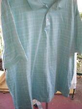 Mens Boca Classics Club Golf Shirt ~ L ~ Short Sleeves ~ Aqua / White