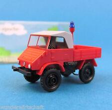 Epoche H0 11005 UNIMOG U 411 Feuerwehr Schlepper OVP HO 1:87 Box