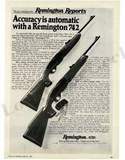 1976 REMINGTON Model 742 Woodmaster Rifle VTG PRINT AD