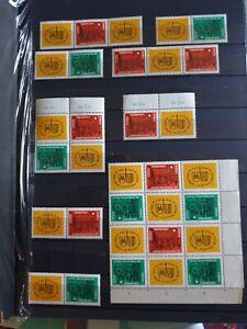 DDR Briefmarken Mi 1012-1013 Postfrisch Zusammendrucke ZD Los 1