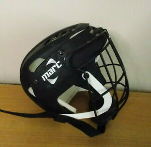 GAA Hurling Camogie Helmet - Marc Adult Small Black White USED MARC
