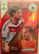 2014 World Cup PANINI PRIZM WESLEY SNEIJDER / SAMI KHEDIRA RED PRIZM #97/149