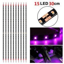 8pcs Purple 15 LED 30cm Car Grill Flexible Waterproof Light Strip SMD 12V Light
