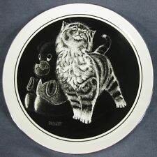 Purr-fect Pleasure Kittens World Collector Plate Plate Rudy Droguett Cat 1980