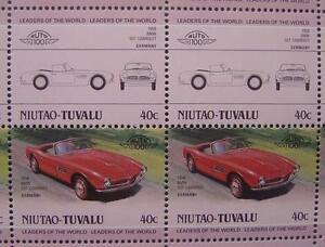 1958 BMW 507 Roadster Cabriolet Sports Car 50-Stamp Sheet (1985 Niutao Tuvalu)