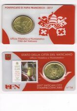 COINCARD N° 14 - 50 CENTIME D'EURO VATICAN 2017 + TIMBRE   NEUF
