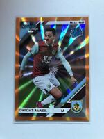 2019-20 Panini Chronicles Donruss Dwight McNeil Rated Rookie Orange Laser SP RC